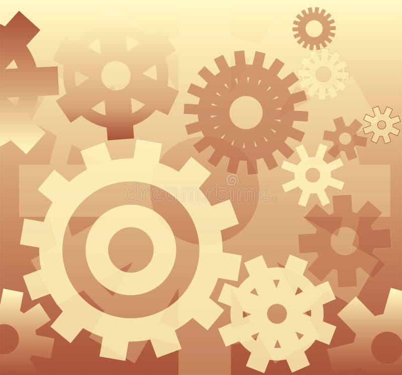 вектор механизма предпосылки иллюстрация вектора