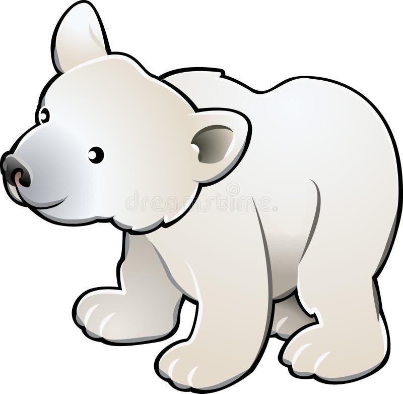 вектор милого illustr медведя приполюсный иллюстрация вектора