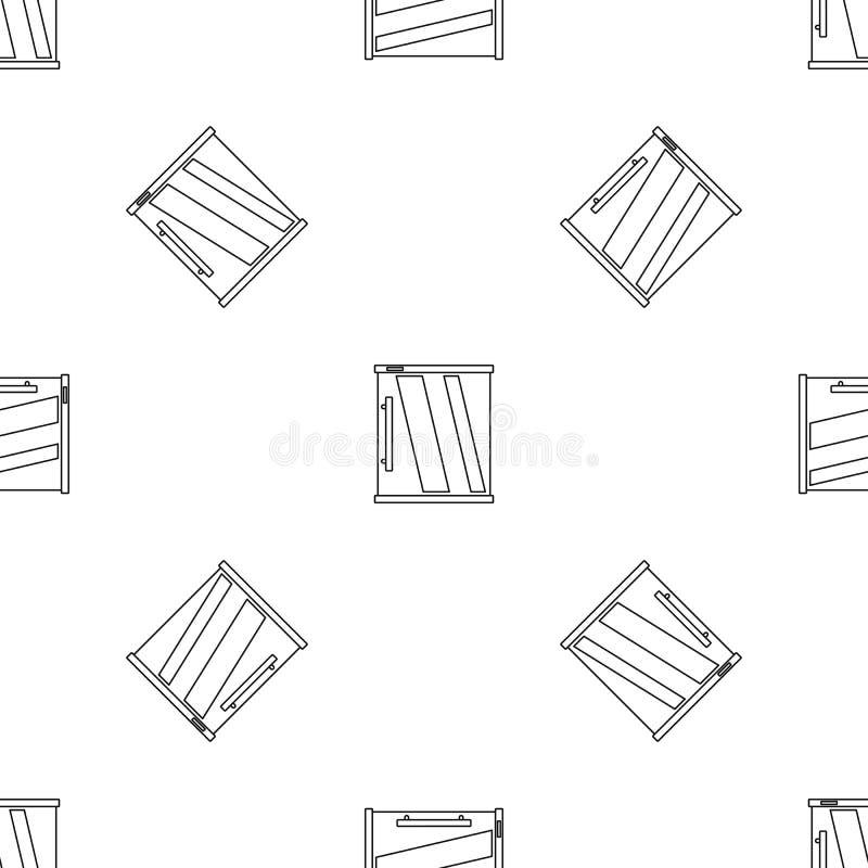 Вектор мини картины холодильника безшовный иллюстрация вектора