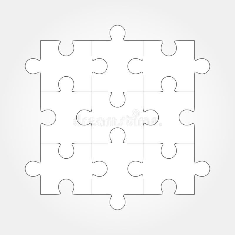 Вектор мозаики, 9 частей иллюстрация вектора