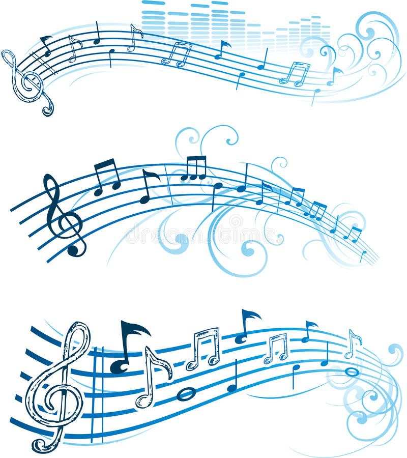 вектор музыкальных примечаний иллюстрация штока