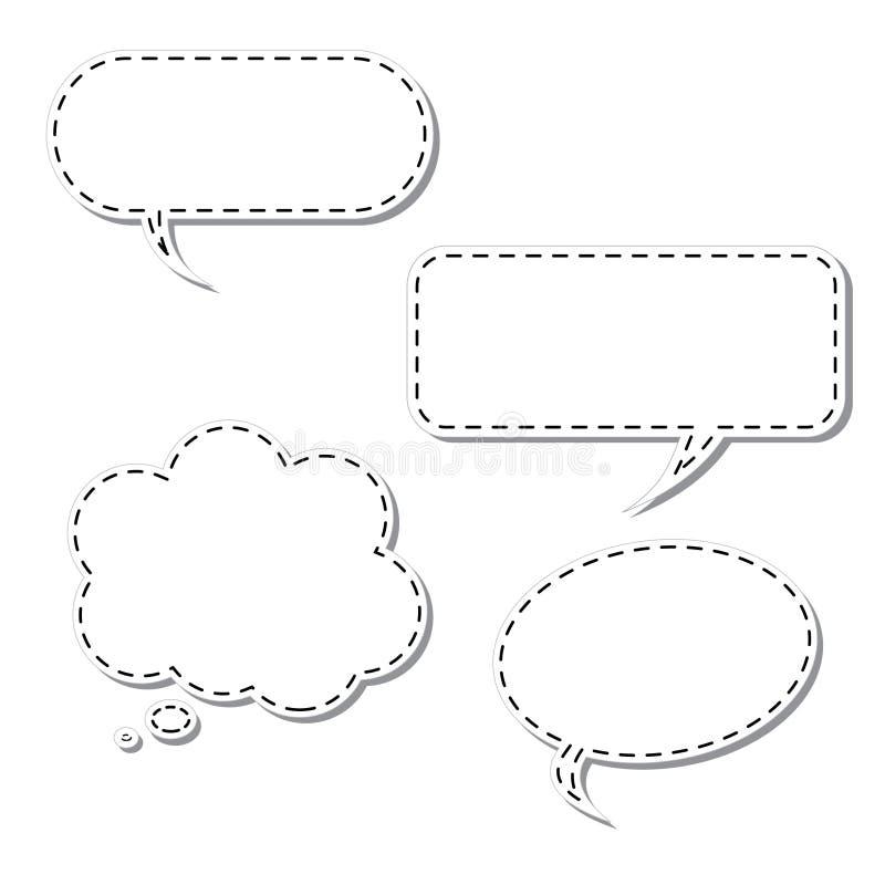 вектор мысли шаржа пузыря иллюстрация вектора