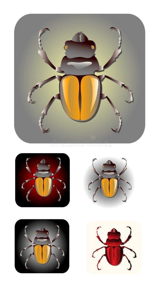 вектор насекомого иконы иллюстрация штока