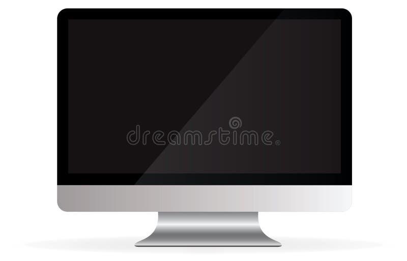вектор настольного компьютера Апл компьютер изолированный imac иллюстрация штока