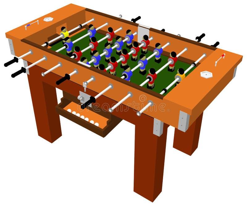 Вектор настольной игры таблицы футбола и футбола иллюстрация штока