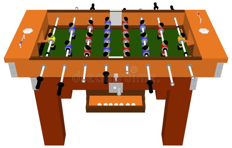 Вектор настольной игры таблицы футбола и футбола иллюстрация вектора
