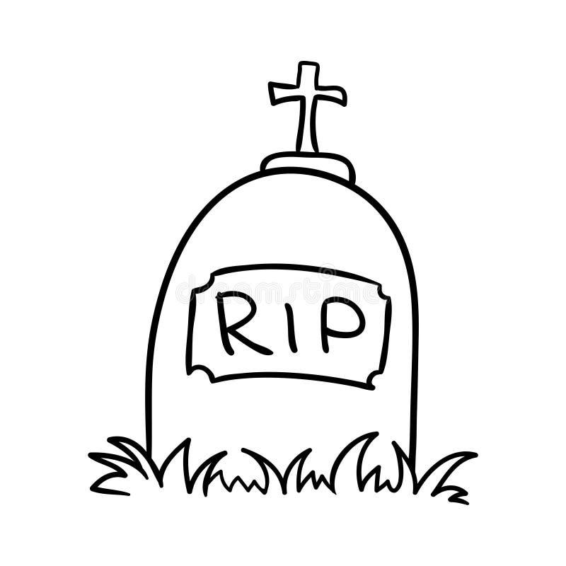 Вектор надгробной плиты бесплатная иллюстрация