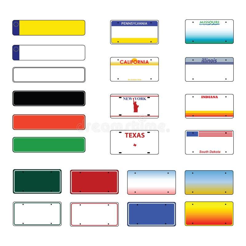 вектор номерных знаков бесплатная иллюстрация