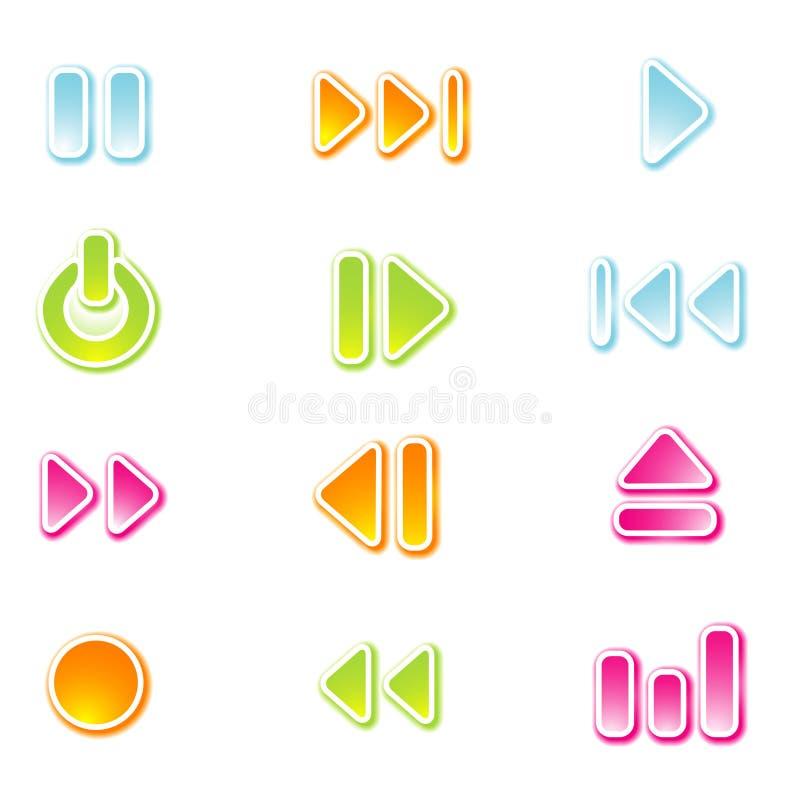 вектор нот икон иллюстрация вектора