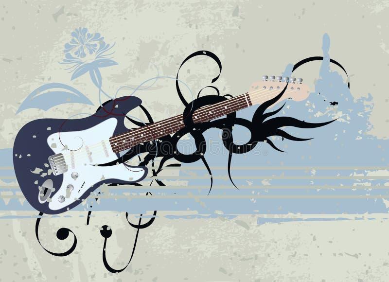 вектор нот grunge предпосылки иллюстрация штока