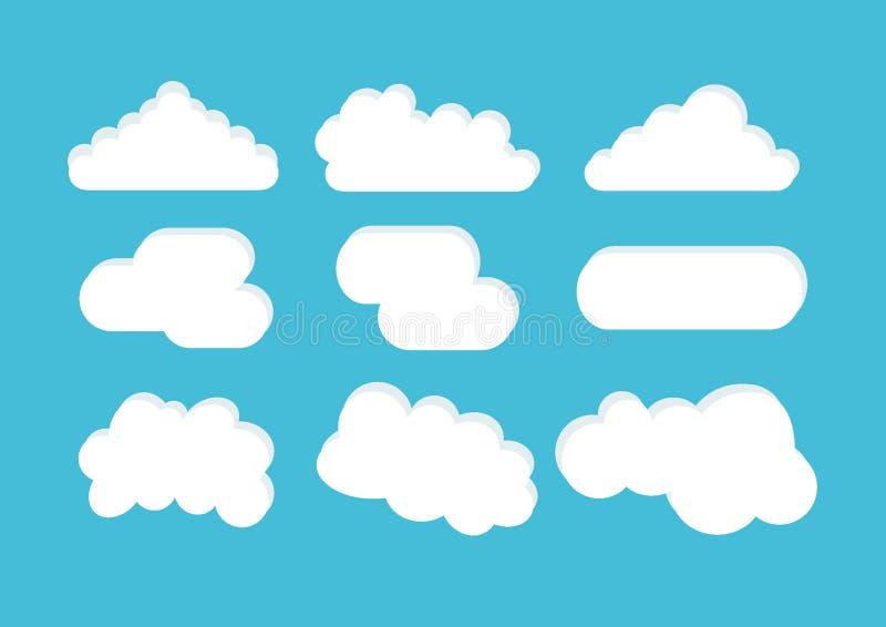 Вектор облака иллюстрация штока