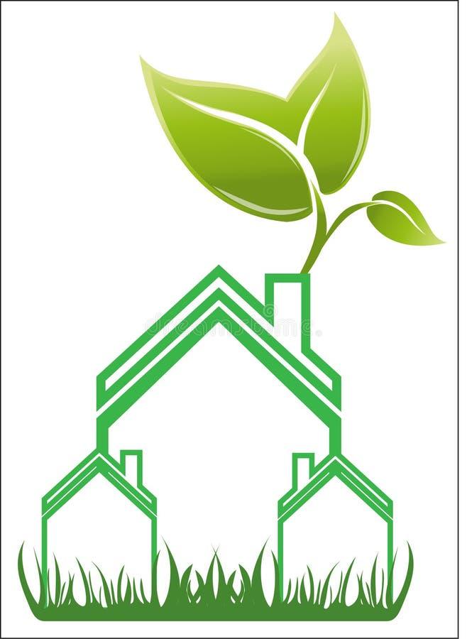 Вектор логотипа дома недвижимости бесплатная иллюстрация