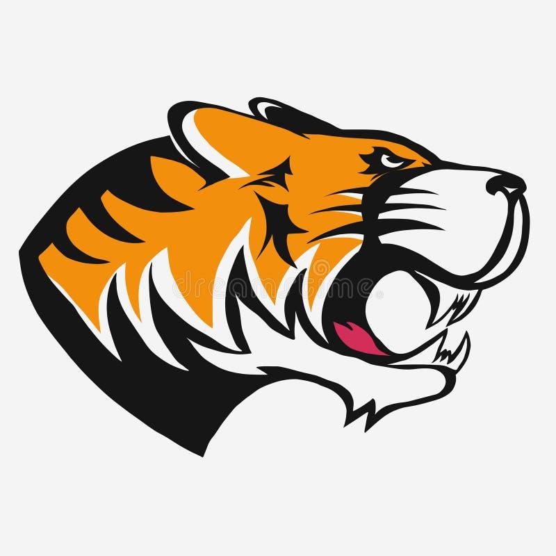 Вектор логотипа тигра иллюстрация вектора