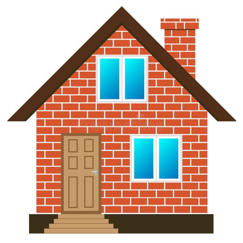 Вектор дома кирпича иллюстрация вектора