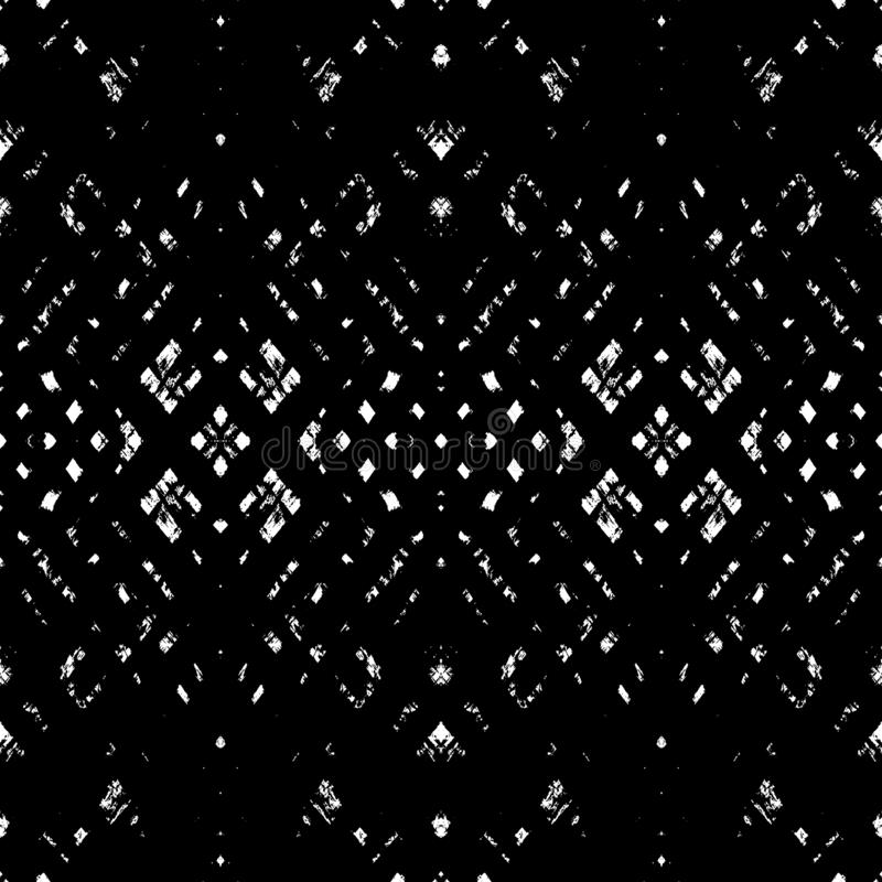 Вектор оплетает безшовную картину Текстурированная предпосылка grunge геометрическая бесплатная иллюстрация
