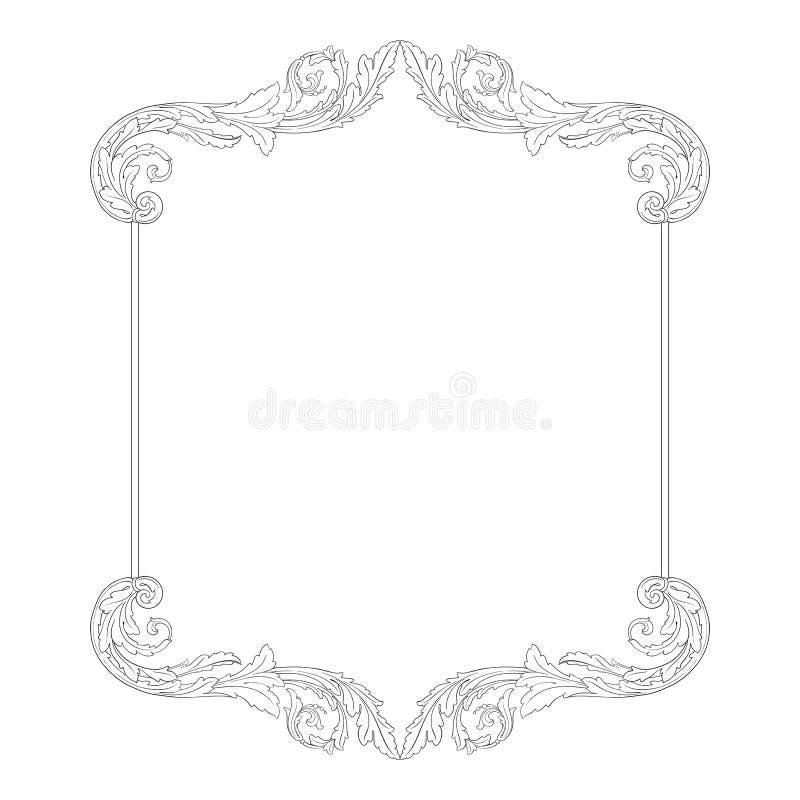 Вектор орнамента винтажный барочный бесплатная иллюстрация