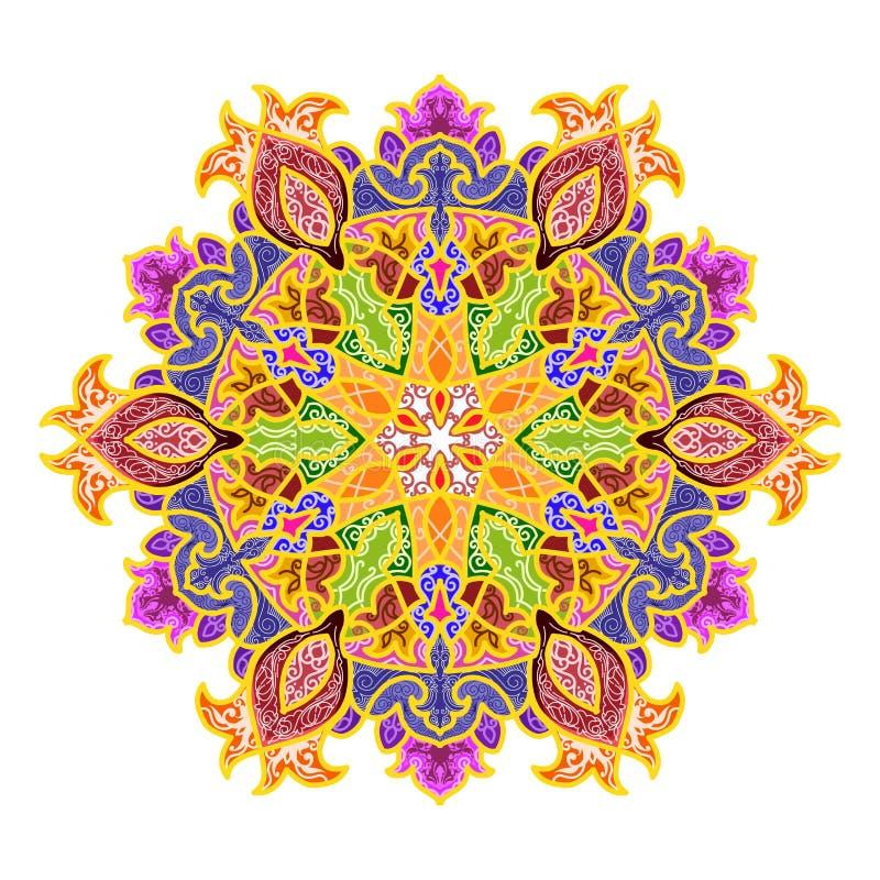 вектор орнамента иллюстрации eps 8 кругов стоковая фотография
