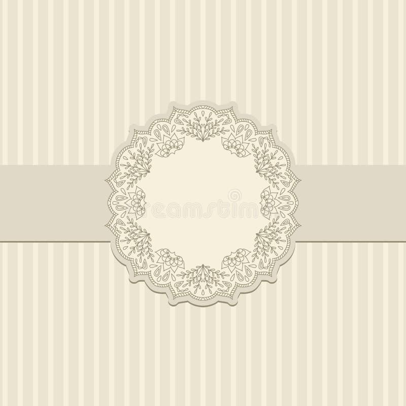 вектор орнамента приветствию карточки иллюстрация штока