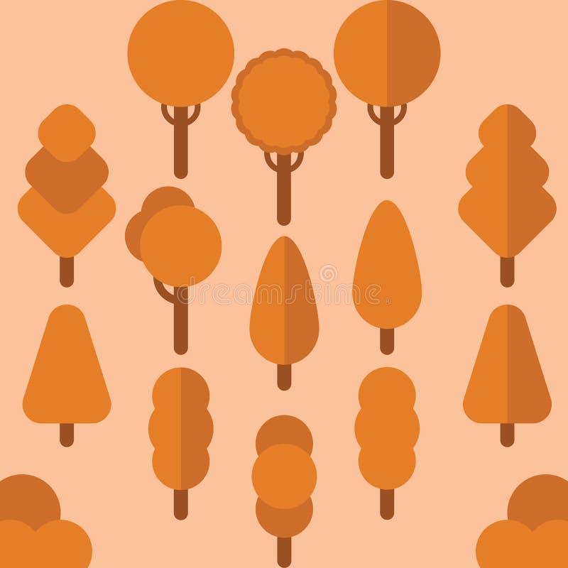 Вектор осени дерева плоский стоковое изображение rf