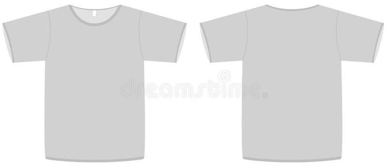 вектор основного шаблона рубашки t иллюстрации unisex иллюстрация вектора