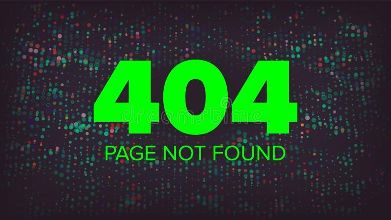 Вектор 404 ошибок Шаблон страницы ошибки 404 найденный творческий Иллюстрация концепции разъединения проблемы иллюстрация штока