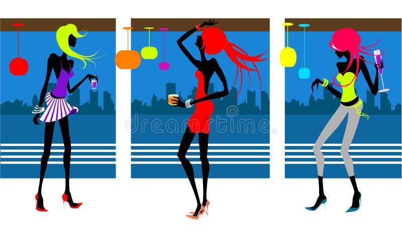 вектор партии девушок бесплатная иллюстрация
