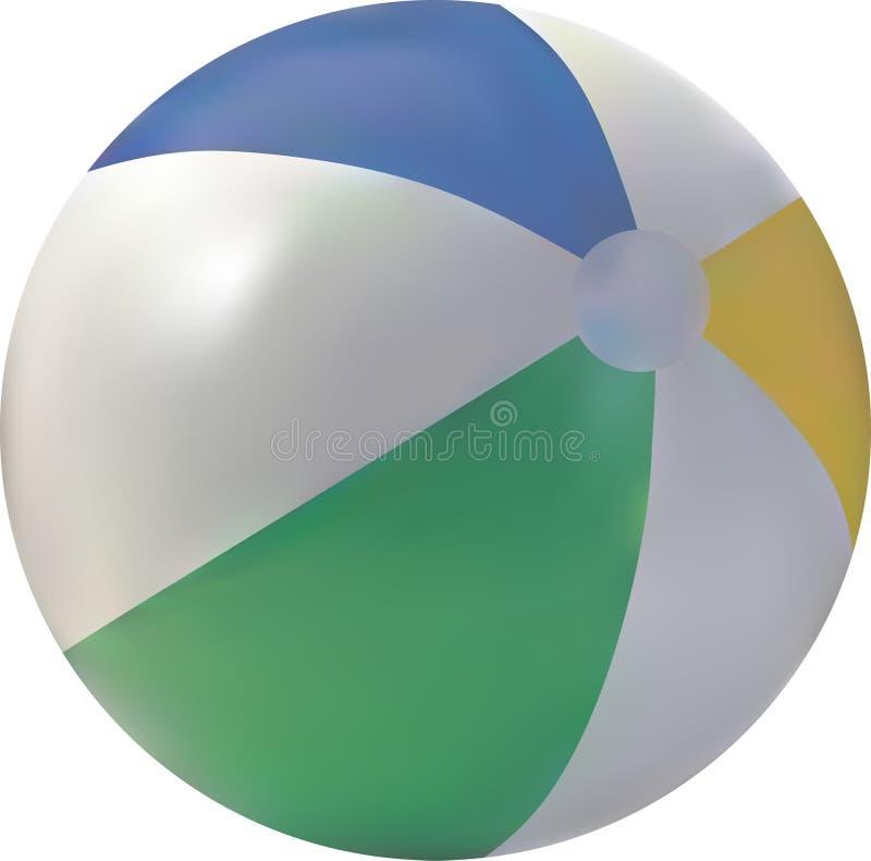 вектор пляжа шарика стоковые фото