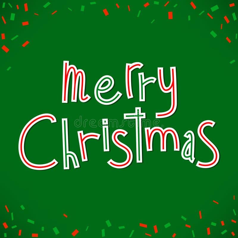 вектор поздравлению рождества веселый стоковая фотография rf