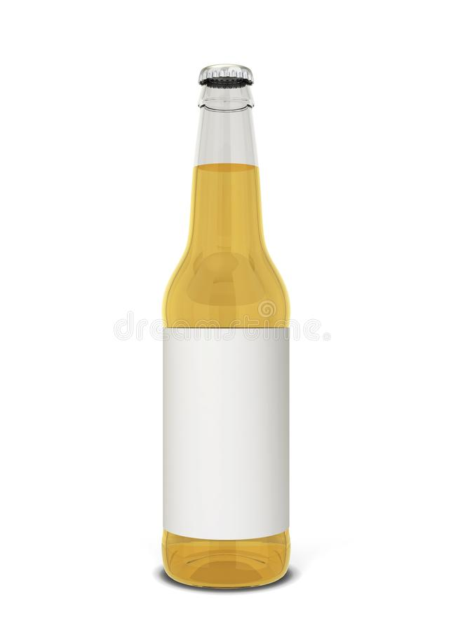 вектор померанца иллюстрации бутылки пива предпосылки иллюстрация вектора