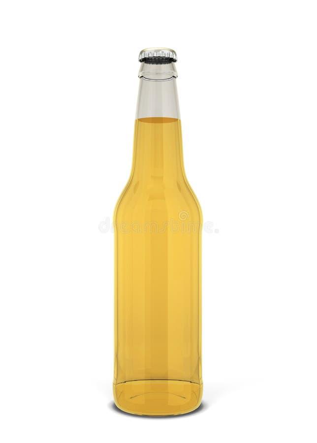 вектор померанца иллюстрации бутылки пива предпосылки иллюстрация штока