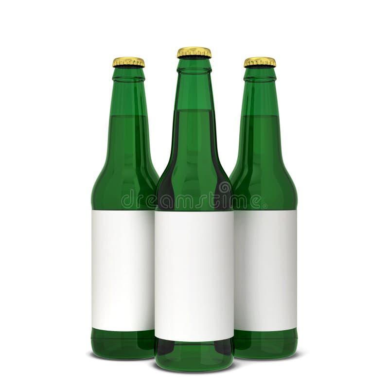 вектор померанца иллюстрации бутылки пива предпосылки бесплатная иллюстрация