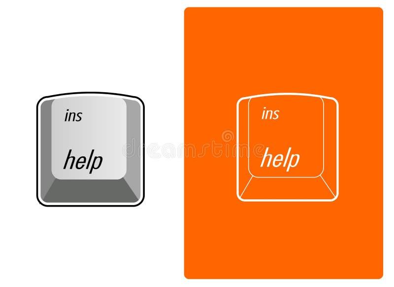 вектор помощи кнопки бесплатная иллюстрация