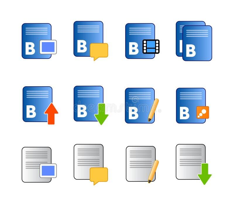 вектор потребителя икон блога иллюстрация вектора