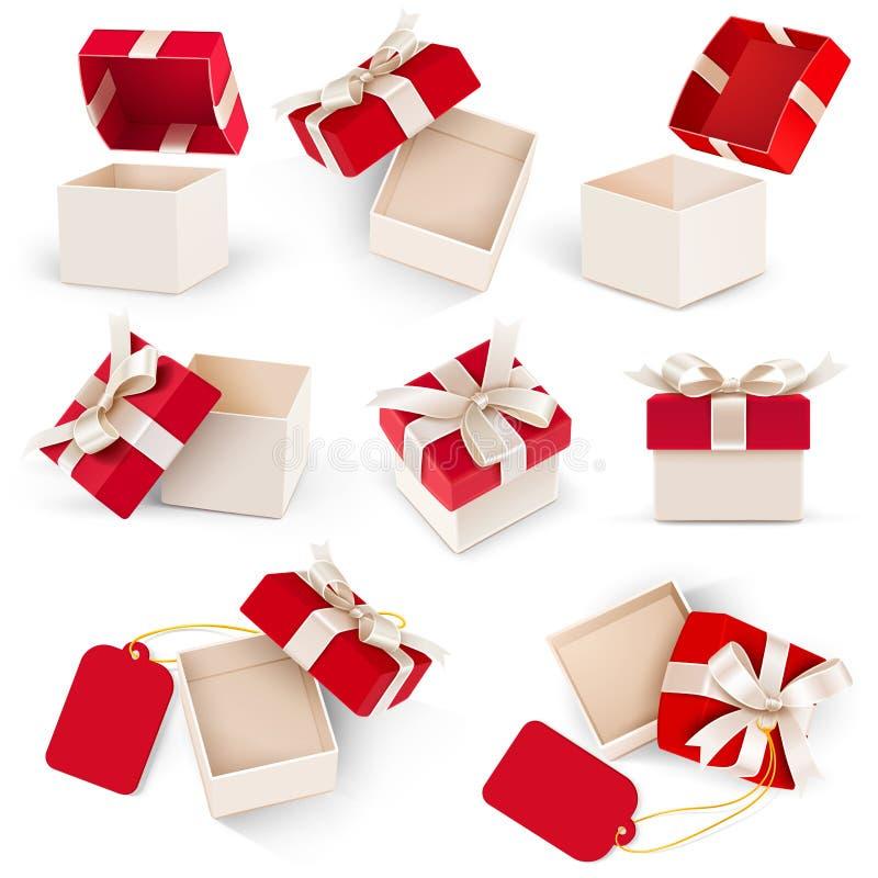 Вектор подарочной коробки установленный бесплатная иллюстрация