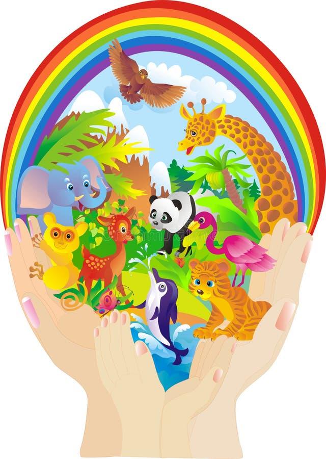 вектор предохранения от природы животных одичалый иллюстрация штока