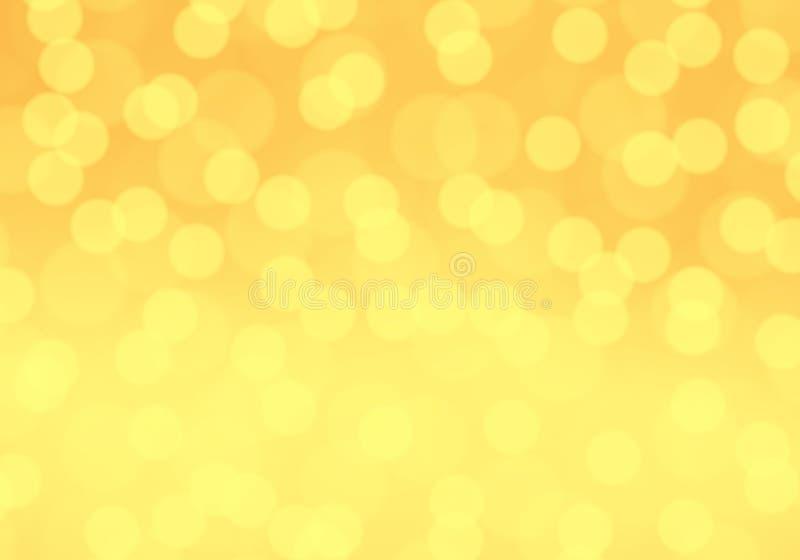 Вектор предпосылки абстрактного желтого bokeh нерезкости светлый иллюстрация штока