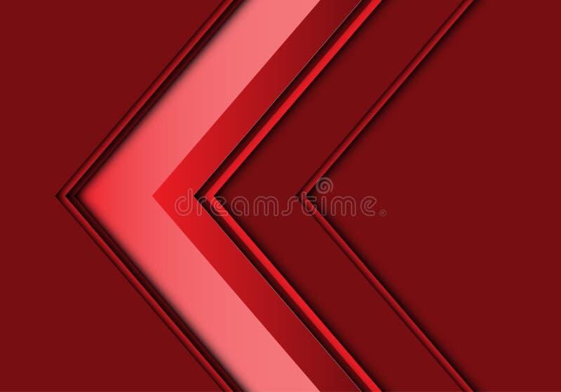 Вектор предпосылки абстрактного красного дизайна направления стрелки современный футуристический иллюстрация вектора
