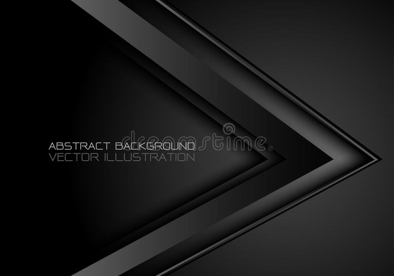 Вектор предпосылки абстрактного черного металлического дизайна направления стрелки современный роскошный футуристический бесплатная иллюстрация