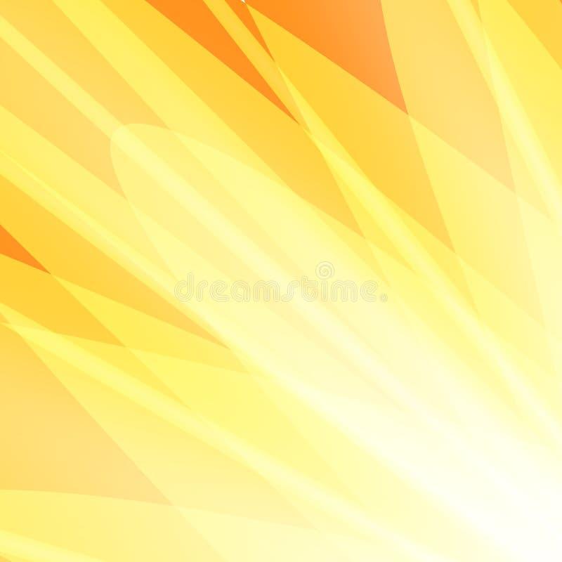 Вектор предпосылки желтых оранжевых лучей абстрактный иллюстрация штока