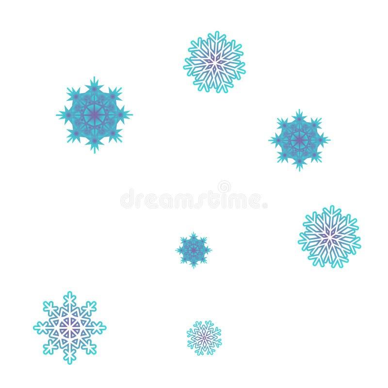Вектор предпосылки Нового Года с падая снежинками бесплатная иллюстрация