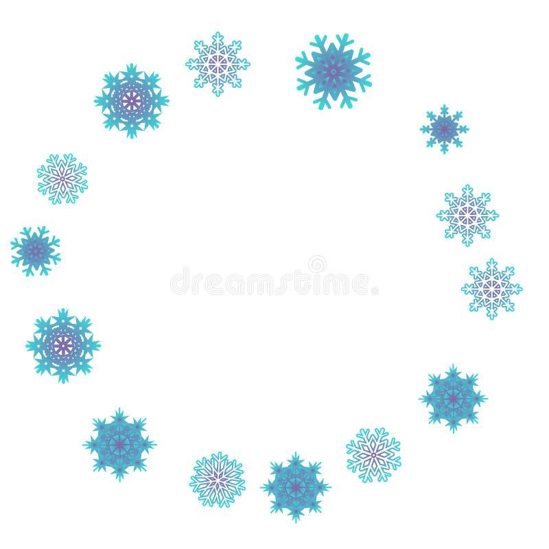 Вектор предпосылки Нового Года с падая снежинками иллюстрация штока