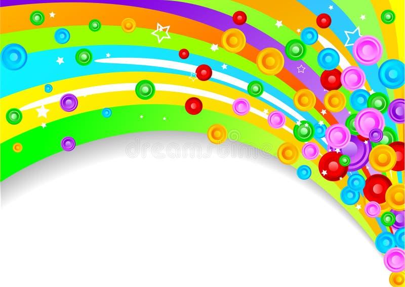 вектор предпосылки цветастый иллюстрация вектора