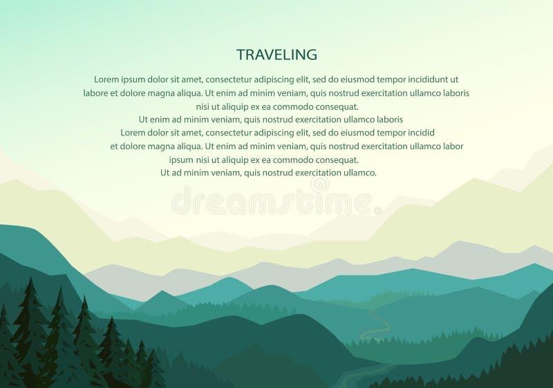 Вектор предпосылки горы бесплатная иллюстрация