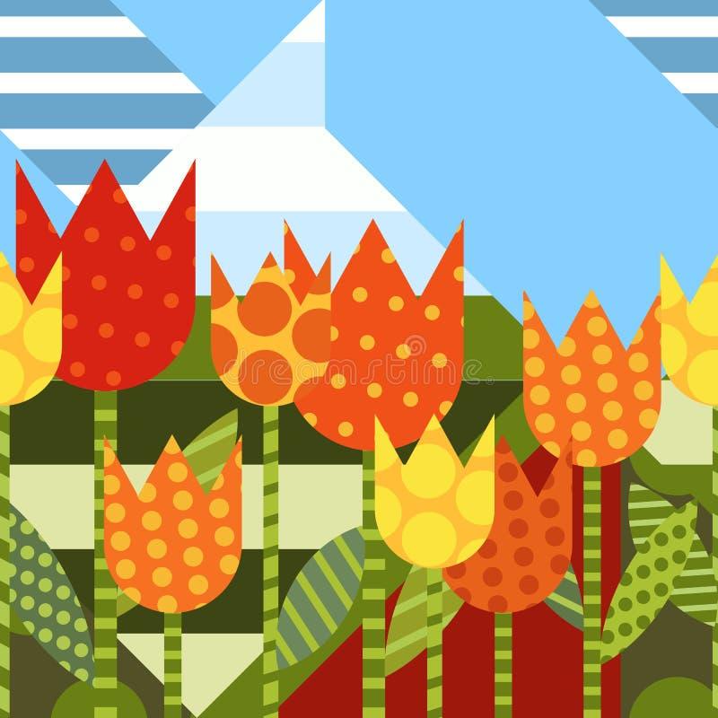 вектор предпосылки флористический безшовный Плоские творческие wi иллюстрации бесплатная иллюстрация