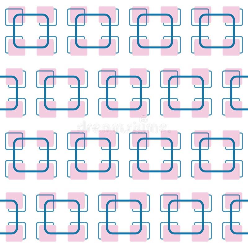 Вектор придает квадратную форму картине безшовного конспекта предпосылки картины косой ретро, винтажному стилю иллюстрация штока