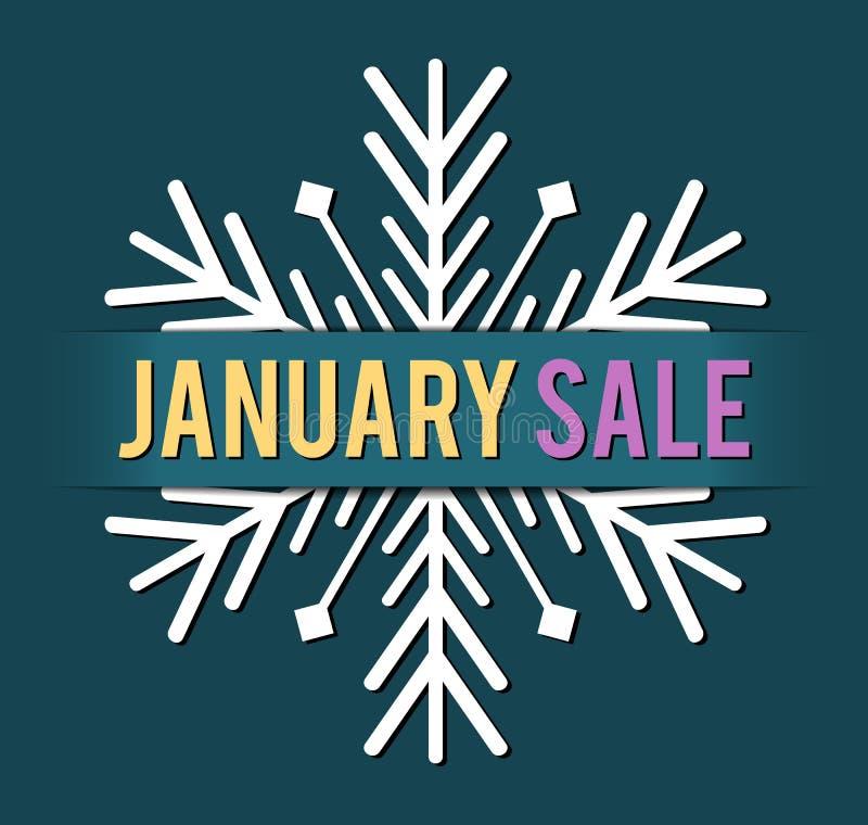 Вектор продажи в январе иллюстрация вектора