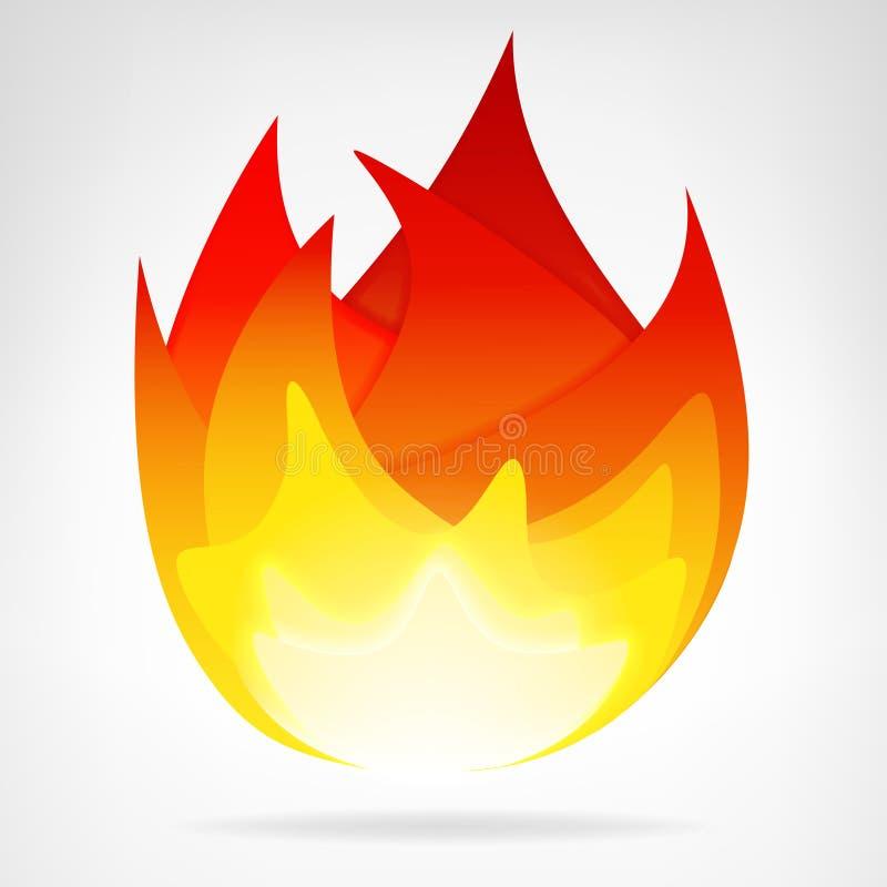 Вектор пламени огня изолированный энергией