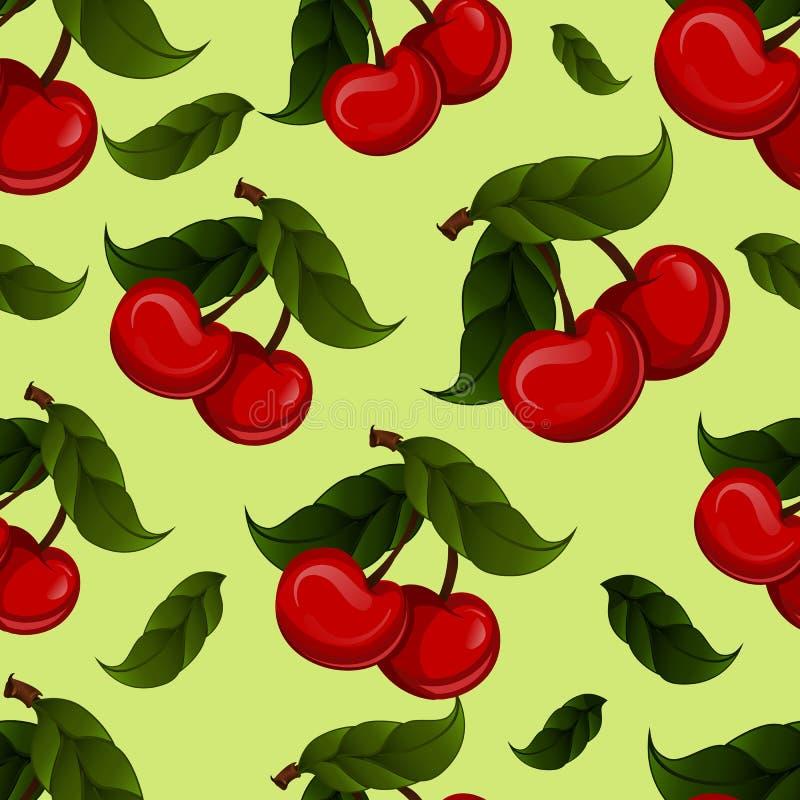Вектор плодоовощ вишни яркого jucy свежий Вишни иллюстрация вектора