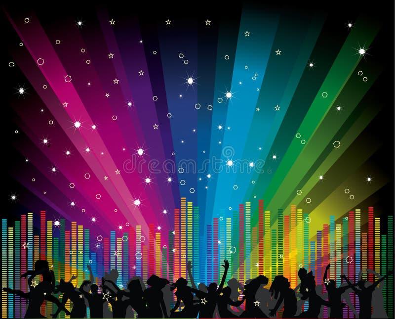 вектор радуги иллюстрации танцоров иллюстрация вектора