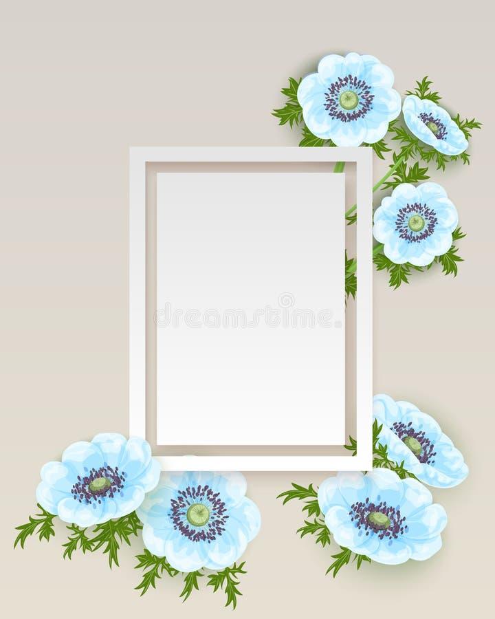 Вектор, рамка с цветками бесплатная иллюстрация